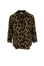 L'Agence - Ryan Safari Print Three-Quarter Sleeve Blouse