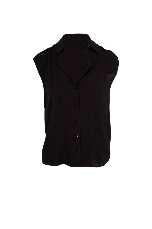 L'Agence Farina Black Sleeveless Blouse