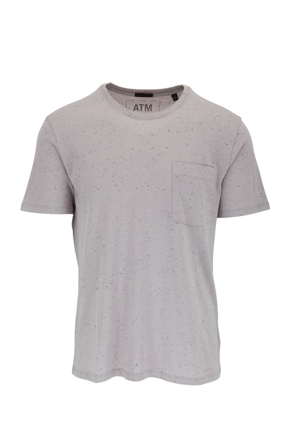 A T M Gray Combo Pocket T-Shirt