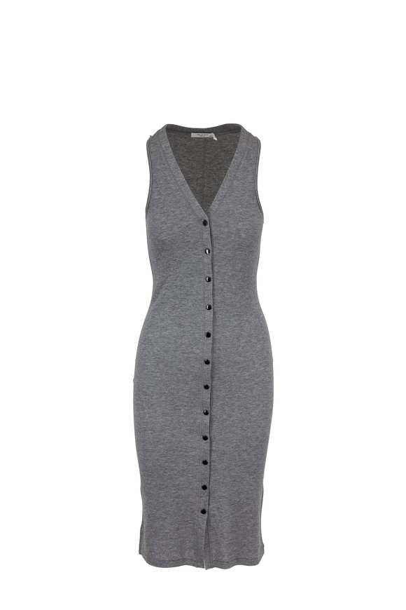 Rag & Bone Mac Heather Gray Midi Knit Tank Dress