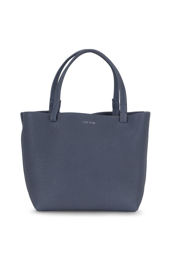 The Row Blue Textured Leather Small Park Tote