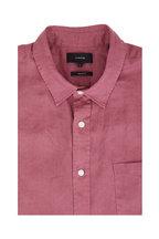 Vince - Syrah Linen Short Sleeve Sport Shirt