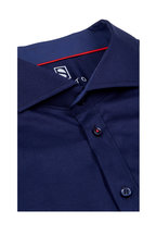 Desoto - Solid Navy Button Front Sport Shirt