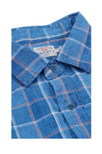 Faherty Brand - Blue Indigo Linen Box Check Sport Shirt