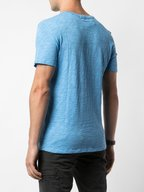 A T M - Sky Blue Slub Cotton Jersey T-Shirt