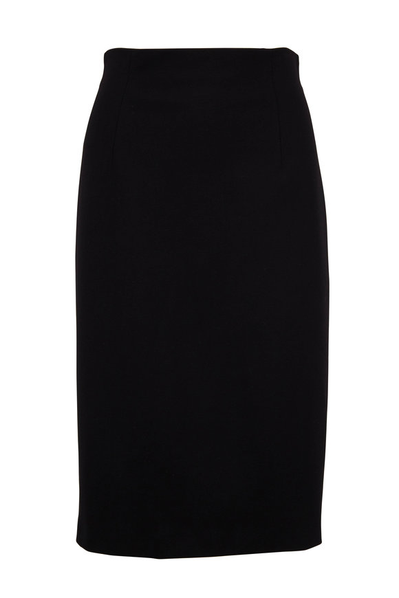 Escada Ramisi Black Pencil Skirt