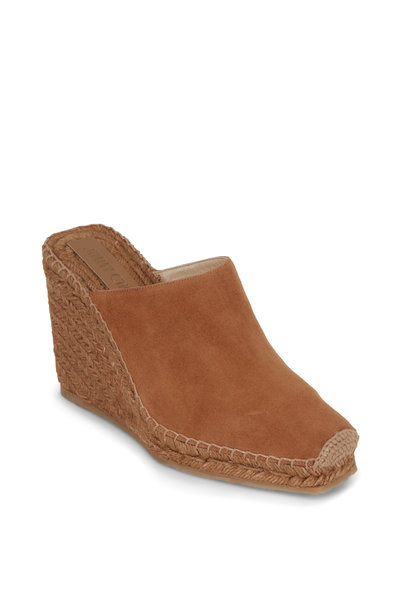 Jimmy Choo - Dalisay Cognac Suede Raffia Wedge Mule, 110mm