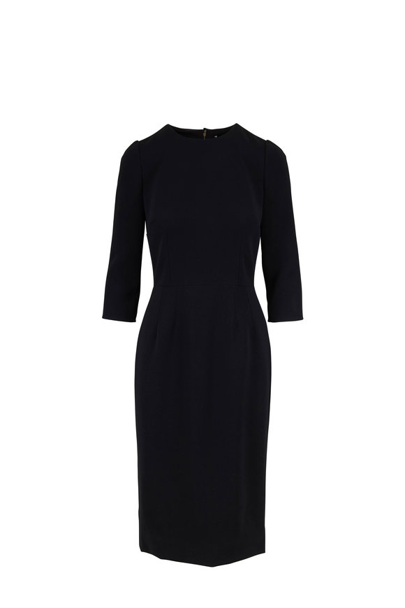 Dolce & Gabbana Black Three-Quarter Sleeve Dress