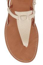 Valentino Garavani - Rockstud Ivory Leather Strappy Thong Sandal