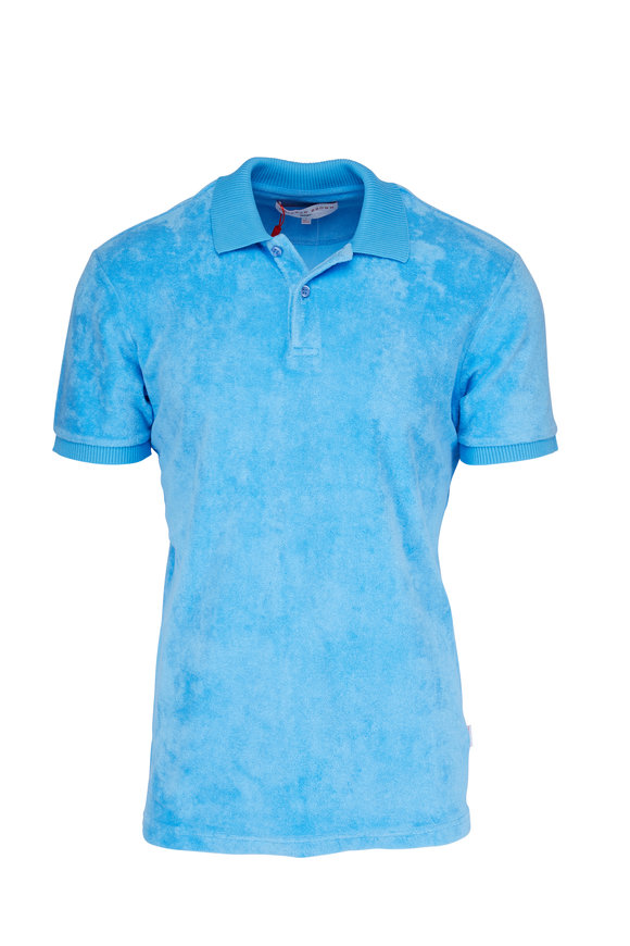 Orlebar Brown Ryder Blue Terry Polo