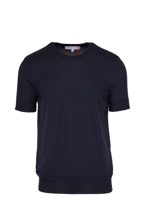 Orlebar Brown Laughton Navy Short Sleeve Sweater