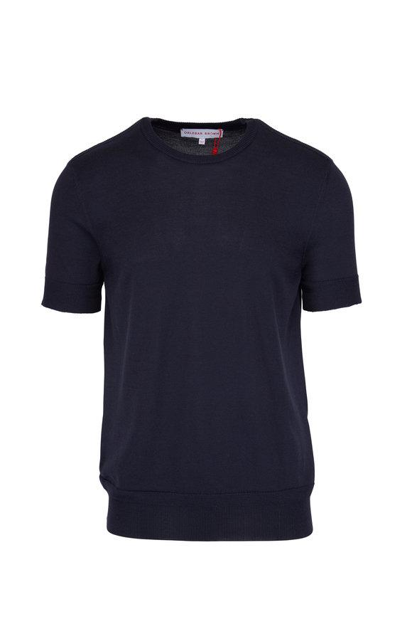 Orlebar Brown Laughton Navy Short Sleeve Sweater