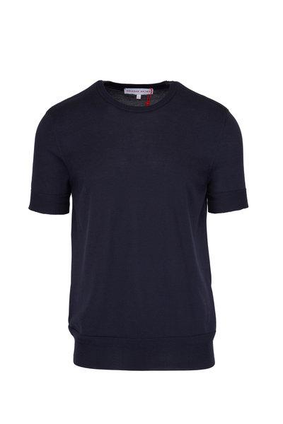 Orlebar Brown - Laughton Navy Short Sleeve Sweater
