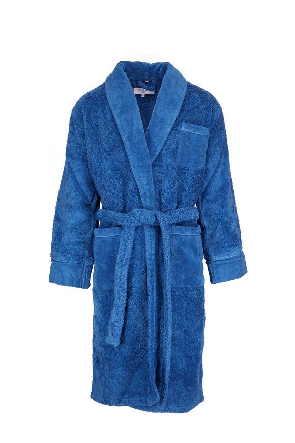 Orlebar Brown Dr. Julius Navy Blue Terrycloth Robe