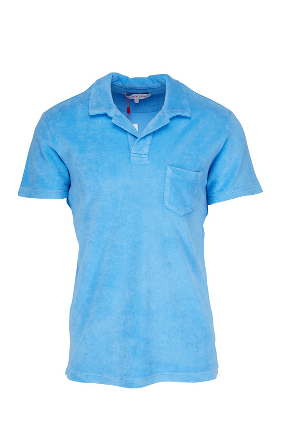 Orlebar Brown Riviera Light Blue Terry Polo