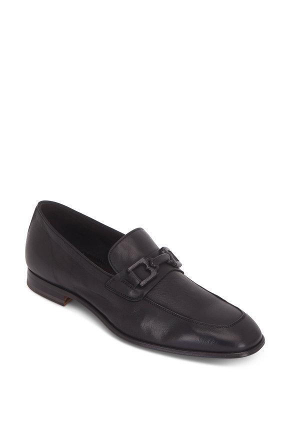 Bruno Magli Indio Black Leather Bit Loafer