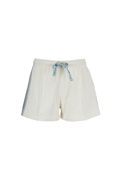 Rag & Bone - Molly Ivory Striped Trim Cotton Shorts