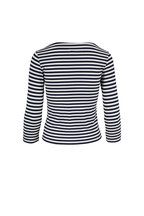 L'Agence - Lucy Navy & Natural Striped T-Shirt