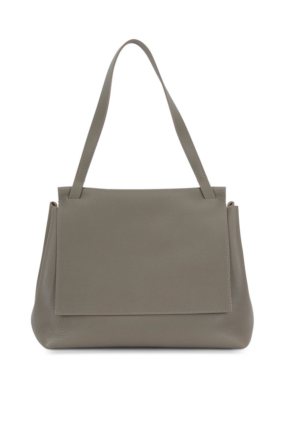 The Row Sidekick Pale Sage Grained Leather Shoulder Bag