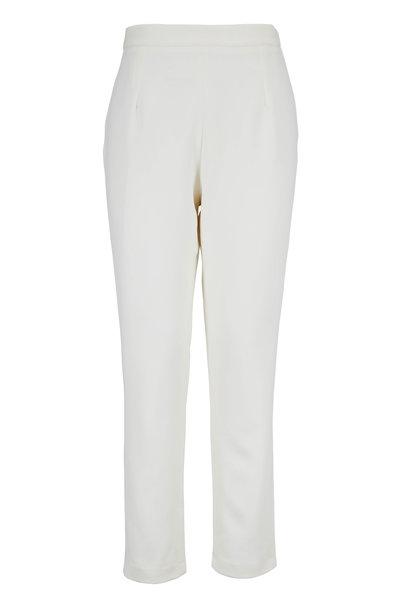 Safiyaa - Ivory Side-Zip Slim Fit Pant