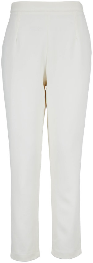 Safiyaa Ivory Side-Zip Slim Fit Pant