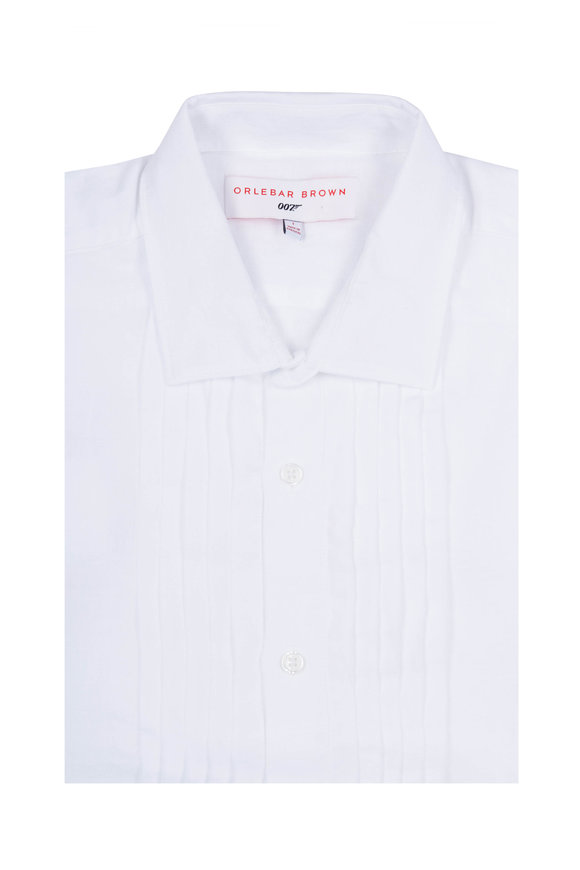Orlebar Brown Bond White Dress Shirt