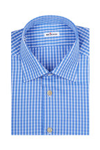 Kiton - Dusty Blue Gingham Dress Shirt