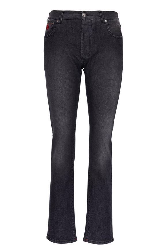 Isaia Grey Wash Straight Leg Jean
