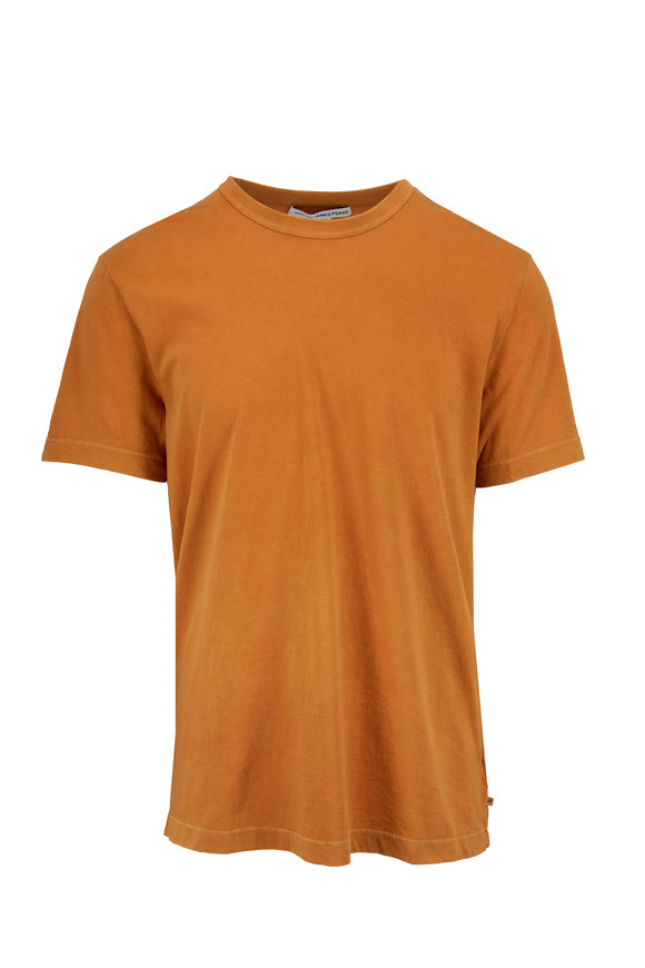 James Perse Gold Cotton Short Sleeve T-Shirt
