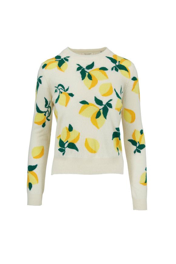 Chinti & Parker Cream Lemons Cashmere Sweater