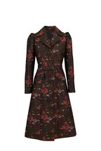 Michael Kors Collection - Princess Reefer Rosewood & Spruce Belted Coat