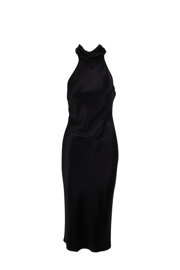 Cushnie Black Silk Criss Cross Back Pencil Dress