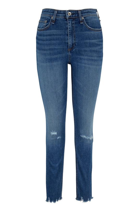 Rag & Bone Nina Vernon Holes High-Rise Ankle Skinny Jean