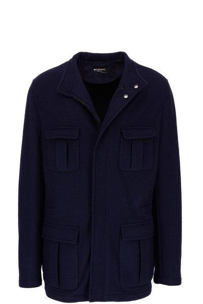 Kiton - Navy Cashmere Safari Jacket