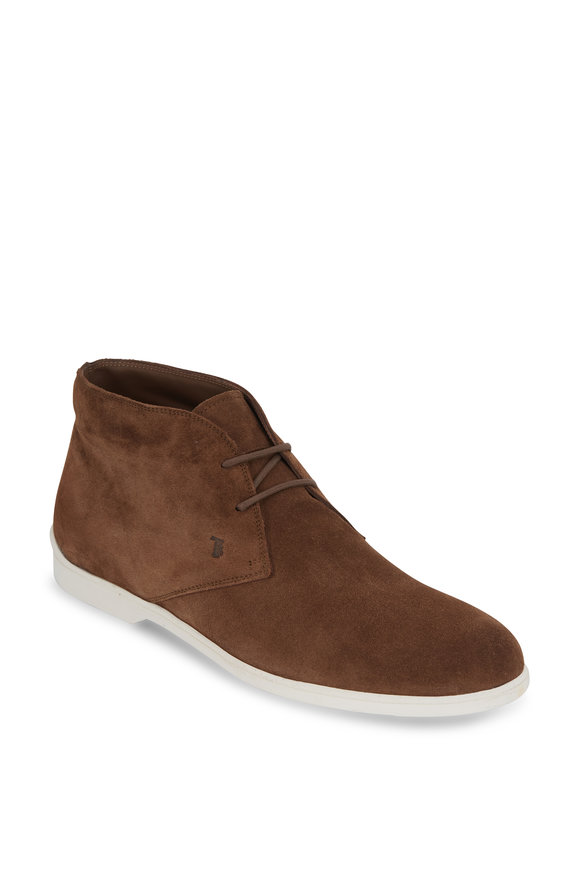 Tod's Polacco Medium Brown Suede Boot