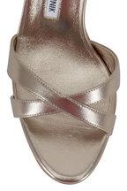Manolo Blahnik - Callasli Alba Leather Slingback. 90mm