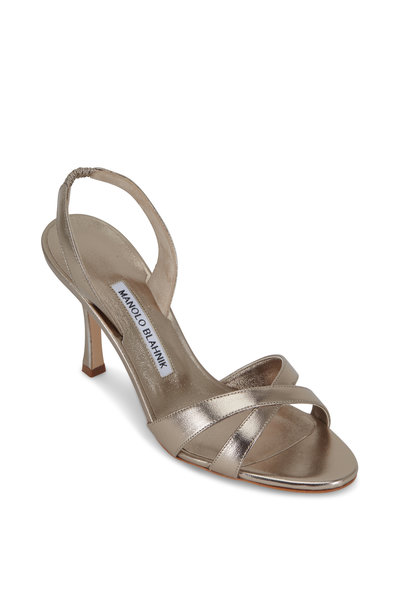 Manolo Blahnik - Callasli Leather Slingback. 90mm