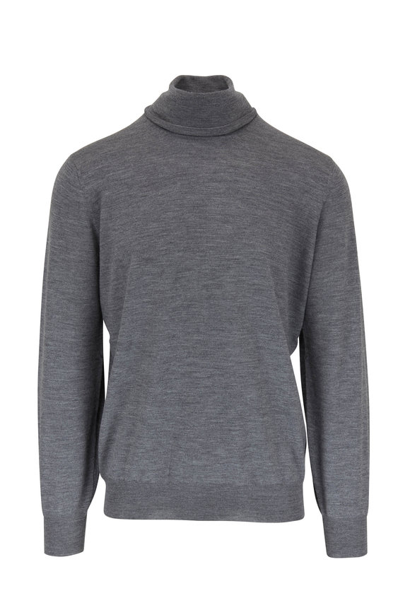 Brunello Cucinelli Gray Wool & Cashmere Turtleneck