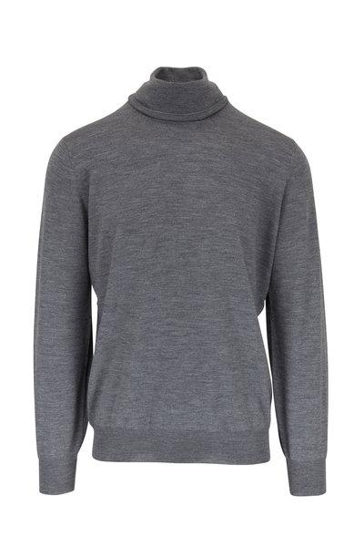Brunello Cucinelli - Gray Wool & Cashmere Turtleneck