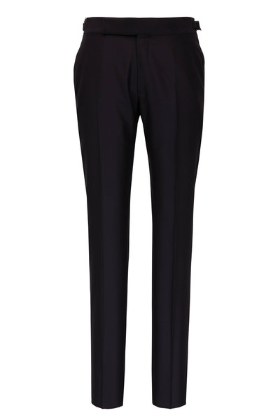 Ermenegildo Zegna - Black Wool & Silk Formal Pant