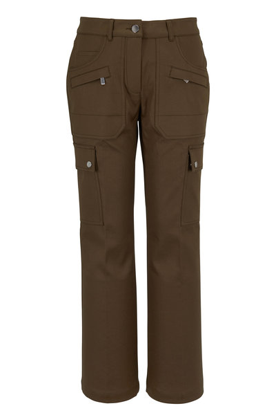Michael Kors Collection - Spruce Cotton Crop Flare Cargo Pant