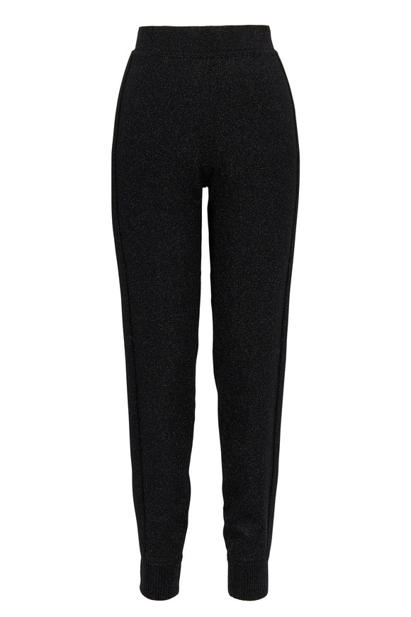 Michael Kors Collection Black Metallic Track Pant