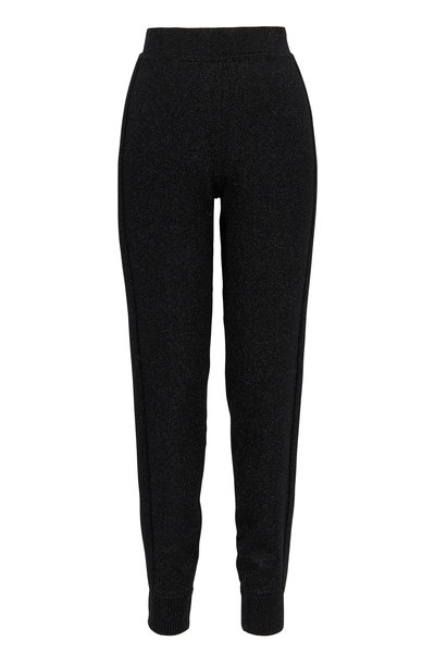 Michael Kors Collection - Black Metallic Track Pant