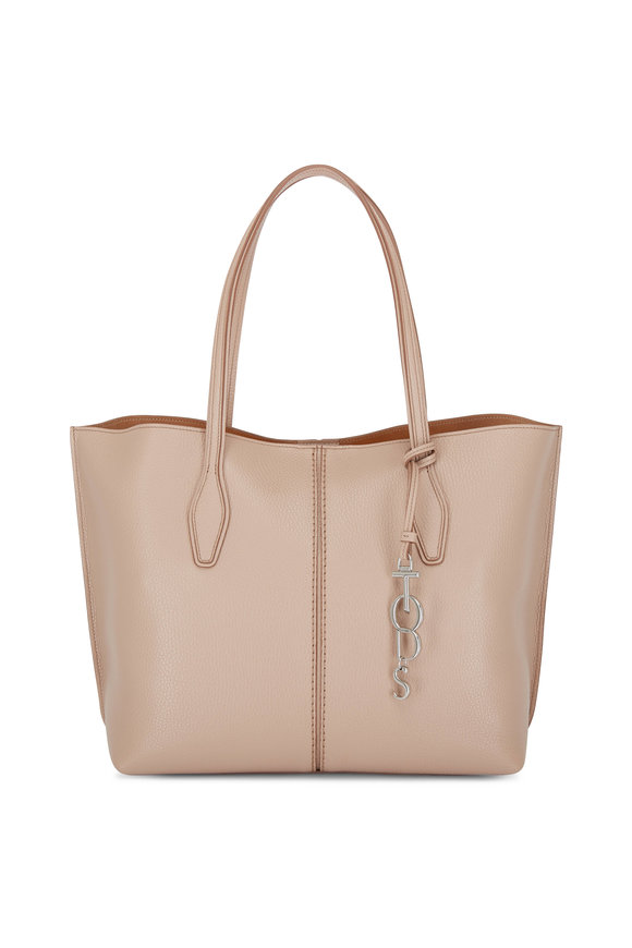 Tod's Joy Blush Pebbled Leather Medium Shoulder Bag