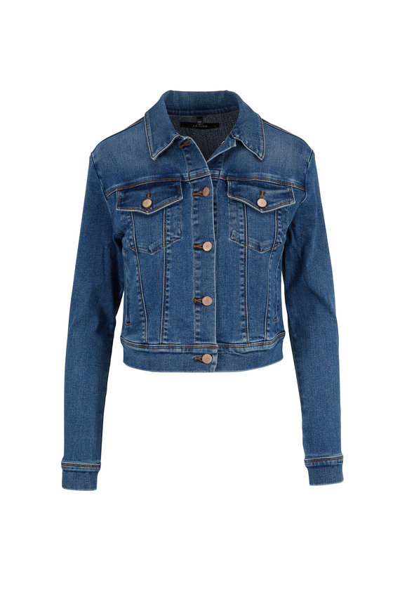 J Brand Harlow Rapture Shrunken Denim Jacket