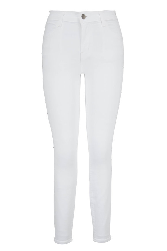J Brand Alana White Crop High-Rise Jean
