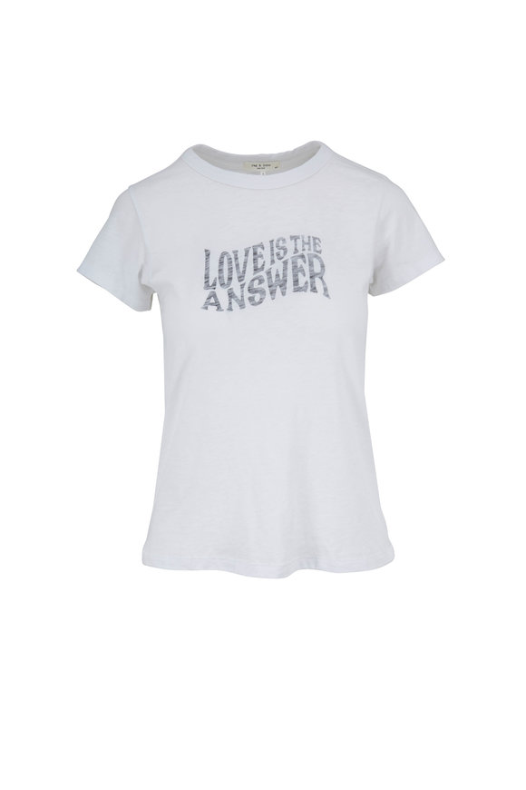 Rag & Bone White Love Graphic T-Shirt