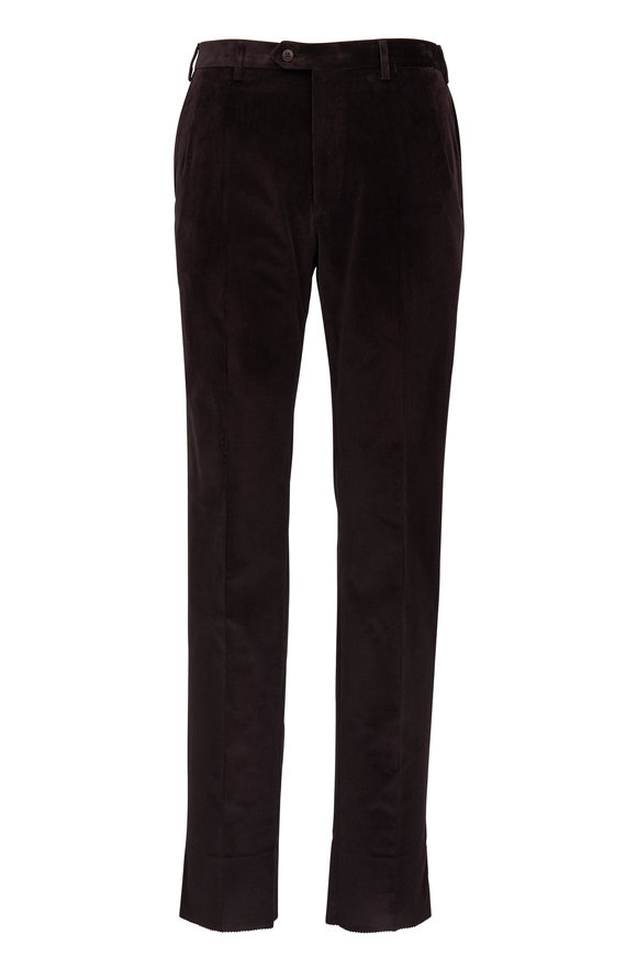 Brioni Dark Brown Corduroy Pant
