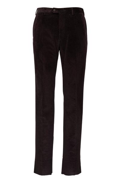 Brioni - Dark Brown Corduroy Pant