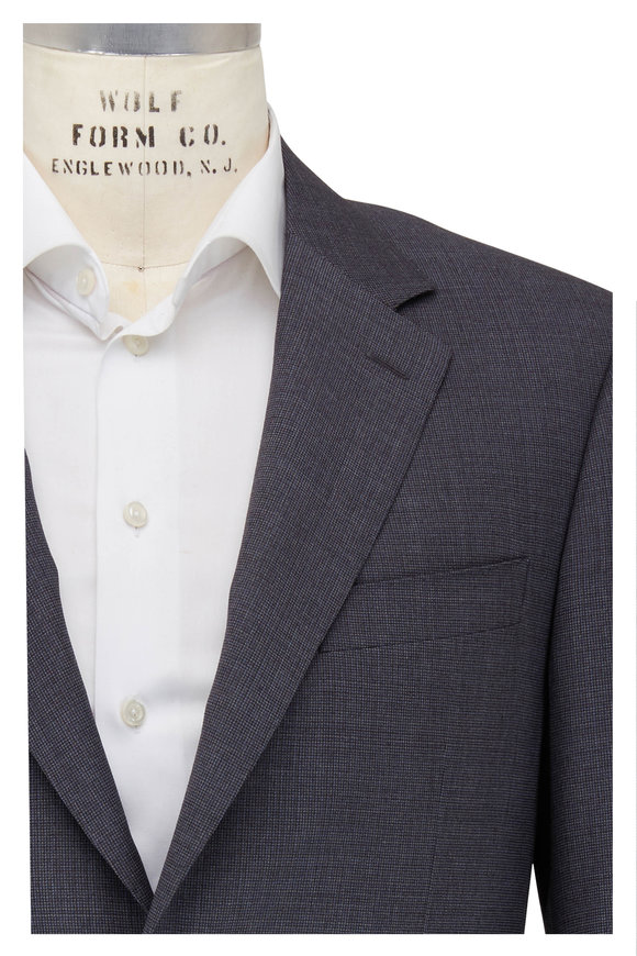 Canali Charcoal Gray Wool Suit